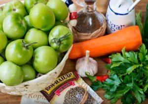 Фаршированные зеленые помидоры: рецепты с фото