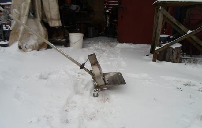 Снегоуборщик из триммера своими руками — инструкция