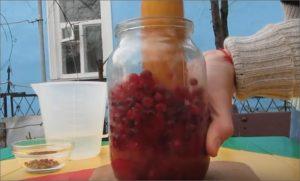 Домашняя наливка из клюквы: рецепт