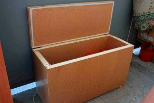 Ящик из пенопласта для хранения овощей