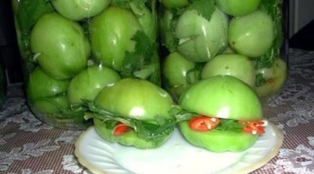 Зеленые помидоры по армянски на зиму рецепт с фото пошагово