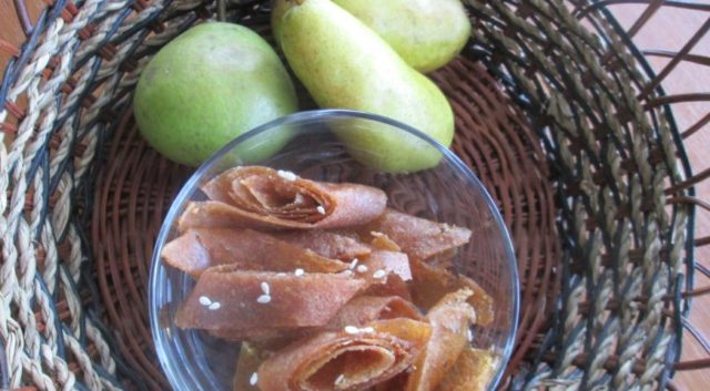Пастила из груши: в духовке, в сушилке, без сахара, без варки
