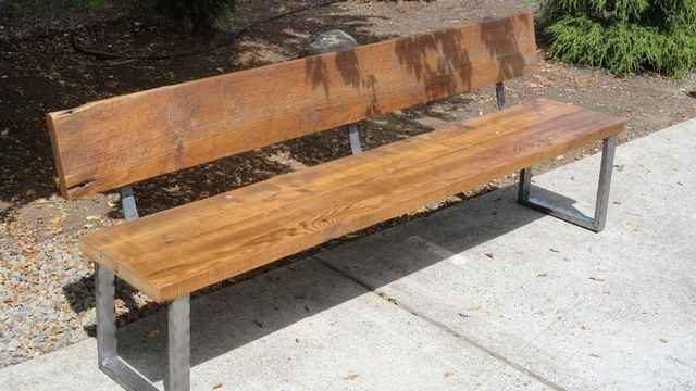 Уличные скамейки из металла и дерева: как сделать своими руками, эскизы и фото