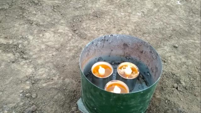 Простой способ обогрева теплицы весной свечой
