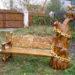 Лавочка из дерева своими руками: как сделать резную, декоративную, без спинки